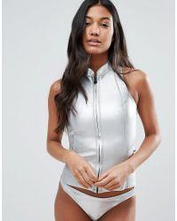 Billabong - Metallic Sleeveless Neoprene Wetsuit - Lyst