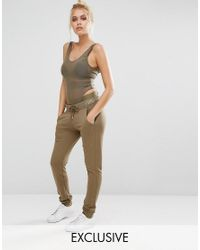PUMA | Green Exclusive To Asos Lounge Pants In Khaki | Lyst