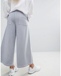 Maharishi - Blue Cropped Sweatpants With Logo - Lyst