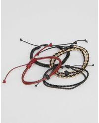 ALDO - Multicolor Braided Bracelets In 4 Pack for Men - Lyst