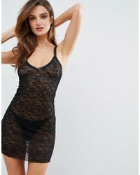 Ann Summers - Black Leticia Chemise - Lyst
