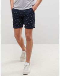 Produkt Chino Shorts In Anchor Print in Blue for Men | Lyst