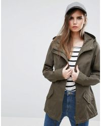 528987feb6f ONLY You Naya Spring Parka Jacket in Green - Lyst