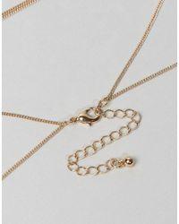 ASOS | Metallic Fine T Bar Body Chain | Lyst