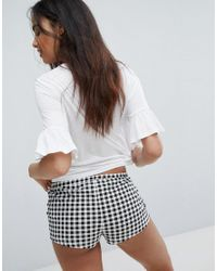 New Look | Black Weekend Vibes Gingham Pajama Shorts Set | Lyst