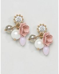 ALDO - Pink Fravia Floral Earrings - Lyst