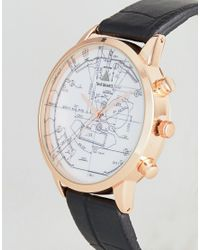 ASOS - Watch In Black And Rose Gold With Technical Sketch Design for Men - Lyst
