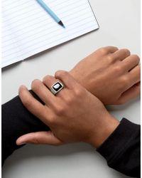 Seven London - Metallic Tigers Eye Signet Ring In Sterling Silver - Lyst