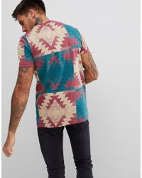 ASOS - Red Design T-shirt With Geo- Print for Men - Lyst