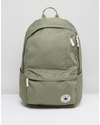 ca7315db11ce Converse Backpack in Green for Men - Lyst