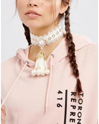 ASOS - Multicolor Statement Faux Pearl Choker Necklace - Lyst