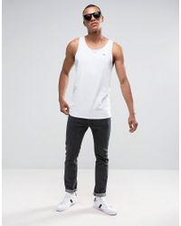Hilfiger Denim - Tommy Vest Flag Logo In White for Men - Lyst