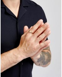 Icon Brand - Metallic Cross Wrap Ring In Antique Gold for Men - Lyst