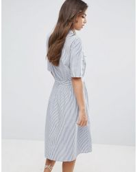Vero Moda | Blue Stripe Shirt Dress | Lyst