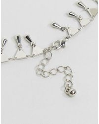 ASOS - Metallic Limited Edition Multirow Charm Chain Necklaces - Lyst