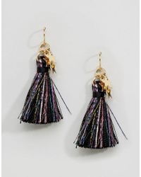 ASOS - Multicolor Limited Edition Sparkle Mini Tassel Earrings - Lyst
