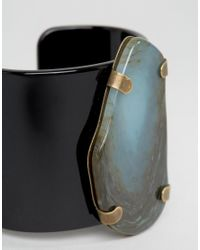 Jaeger | Green Stone Effect Cuff (+) for Men | Lyst