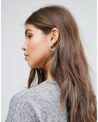 New Look - Multicolor 3 Pack Flat Hoop Earrings - Lyst