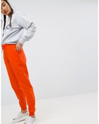 ASOS - Orange Basic Joggers With Tie - Lyst