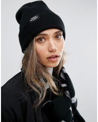 Cheap Monday - Logo Tab Beanie In Black - Lyst