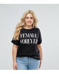 ASOS | Black T-shirt With Female Forever Print | Lyst