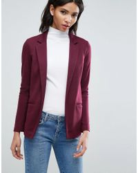 ASOS - Tailored Longline Ponte Jacket - Lyst