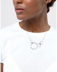 Cheap Monday - Metallic Circle Detail Necklace - Lyst