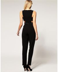 ASOS - Black Exclusive Cut Out Side Jumpsuit - Lyst