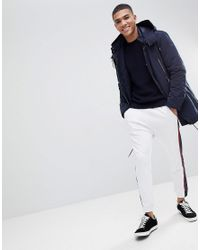 Armani Exchange - Blue Waffle Crew Neck Knit In Navy for Men - Lyst
