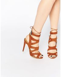 Miss Kg - Brown Tan Frenchy Heeled Sandals - Tan - Lyst