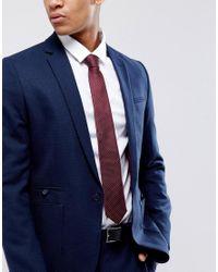 Jack & Jones - Red Tie With Spot for Men - Lyst