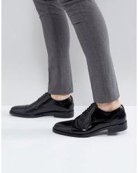 ALDO - Berault Leather Toe Cap Shoes In Black for Men - Lyst