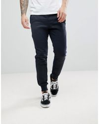 Jack & Jones - Blue Core Jogger With Fleece Sports Stripe for Men - Lyst