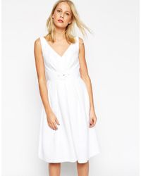 ASOS - Blue 50's Belted Prom Dress - Lyst