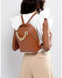 Fiorelli - Brown Anouk Mini Backpack In Tan With Chain Detail - Lyst