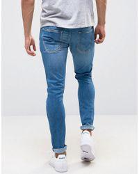 Pepe Jeans | Blue Pepe Nickel Powerflex Skinny Jeans Stone Wash for Men | Lyst