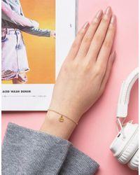 Dogeared   Metallic Gold Plated 'e' Love Letter Bracelet   Lyst