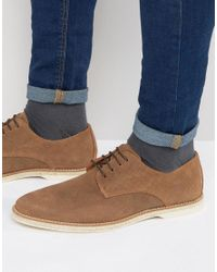 Dune - Brown Barrock Suede Lace Up Shoes for Men - Lyst