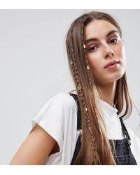 ASOS - Metallic Pack Of 20 Cut Out Hair Cuffs - Lyst