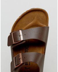 Birkenstock - S Milano Sandals In Dark Brown for Men - Lyst