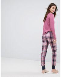 Esprit - Blue Check Pajama Set - Lyst