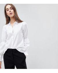 e057a7da8d3eaf Y.A.S Shirt With Sleeve Detail in White - Lyst