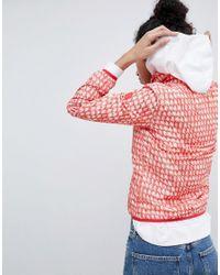 Armani Exchange - Red All Over Logo Zip Through Anorak - Lyst