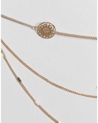 ASOS - Metallic Filigree Choker Multirow Necklace - Lyst