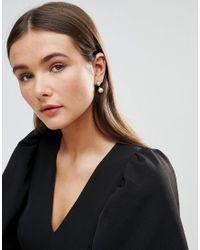 Dyrberg/Kern - Metallic Dyrbergkern Pearl Swing Earrings In Rose Gold - Lyst
