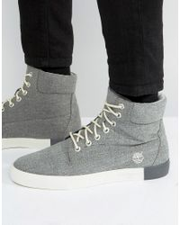 Timberland | Gray Newport 6 Inch Canvas Boots for Men | Lyst