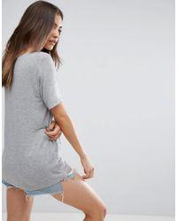 ASOS - Gray Short Sleeve Forever T-shirt - Lyst