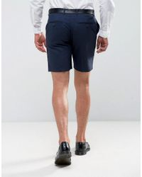 ASOS DESIGN - Blue Smart Short In Navy for Men - Lyst