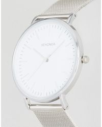 Sekonda - Metallic Silver Mesh Watch With White Dial Exclusive To Asos for Men - Lyst