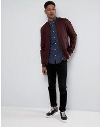 Jack & Jones - Black Originals Short Sleeve Slim Fit Shirt In Brushed Cotton for Men - Lyst